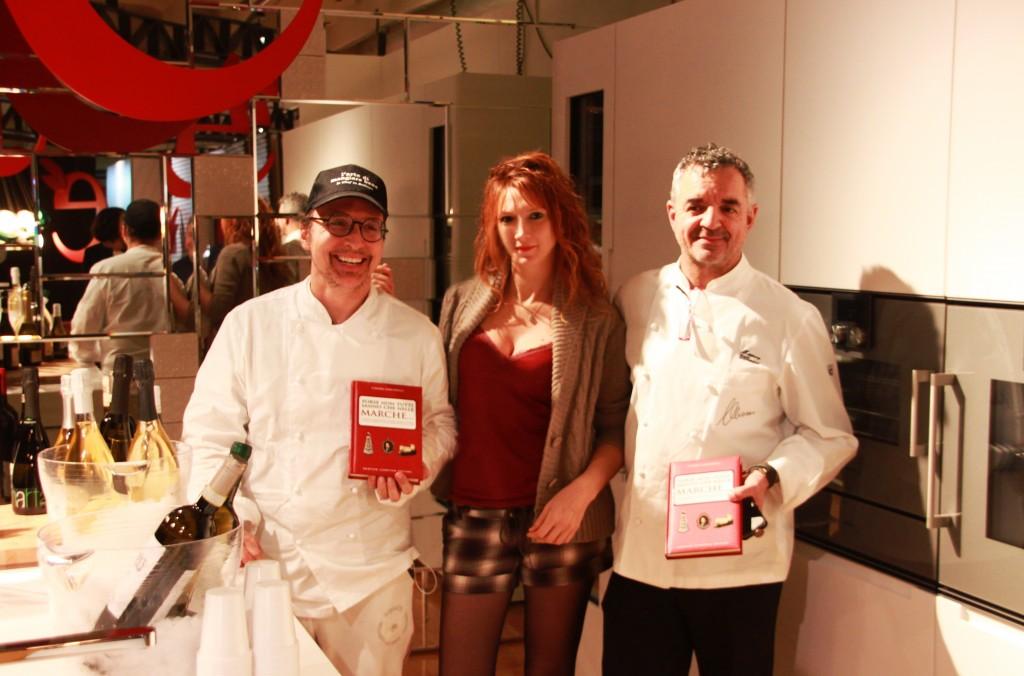 Con gli Chef Enrico Mazzaroni e Mauro Uliassi