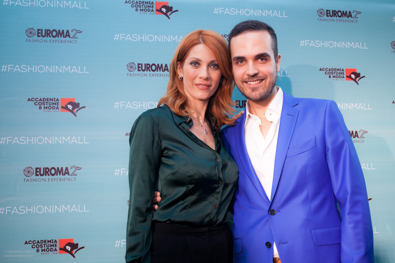 Milena Miconi(attrice) con Edoardo Alaimo (luxury influencer)